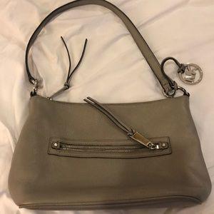 Gray/taupe Michael Kors shoulder bag